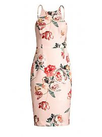 Black Halo - Montego Floral Sheath Dress at Saks Fifth Avenue