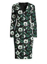 Black Halo - Sambora Floral Sheath Dress at Saks Fifth Avenue