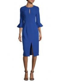 Black Halo Eve - Bastian Bell-Cuff Sheath Dress at Saks Off 5th