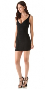 Black Herve Leger mini dress at Shopbop