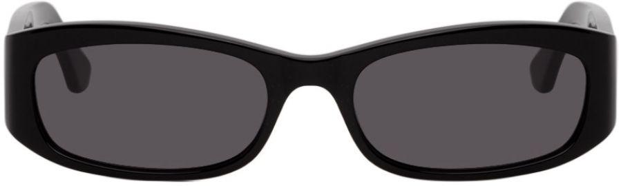 Black Leila Sunglasses at Ssense