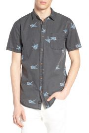 Black Paper Cranes Short Sleeve Shirt by Globe at Nordstrom Rack