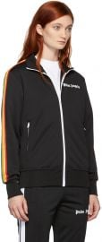 Black Rainbow Stripe Track Jacket by Palm Angles at SSense