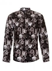 Black Rose Print Smart Shirt at Topman