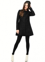 Black Rosette coat by BB Dakota at BB Dakota