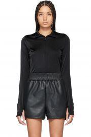 Black Shimmering Glass String Bodysuit at Ssense