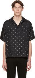 Black Silk Star Short Sleeve Shirt at SSense