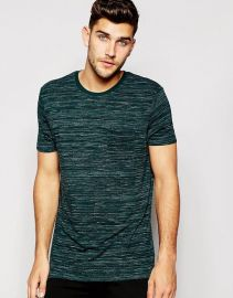 Black T-Shirt Space Dye And Relaxed Skater Fit by ASOS at Asos