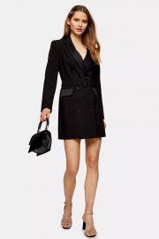 Black Tuxedo Blazer Dress at Topshop