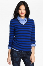 Black and blue striped sweater at Nordstrom at Nordstrom