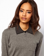 Black and silver pointed collar necklace at ASOS at Asos