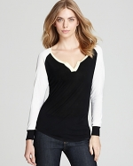 Black and white blouse like Robins at Bloomingdales