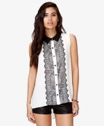 Black and white lace top at Forever 21 at Forever 21