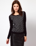 Black and white sweater at Asos