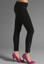 Black ankle zip jeans by Paige at Revolve