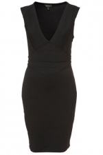 Black bandage dress from Topshop at Topshop