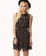 Black belted dress at Forever 21 at Forever 21