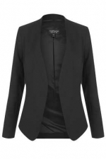 Black blazer from Topshop at Topshop