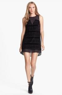 Black chiffon shift dress by ASTR at Nordstrom