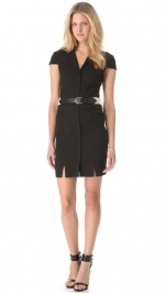 Black collared dress by LAgence at Shopbop