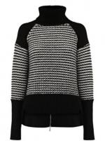Black contrast sleeve turtleneck by Karen Millen at House of Fraser