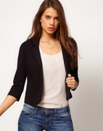 Black cropped blazer at ASOS at Asos