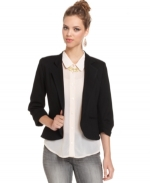 Black cropped blazer by Bar III at Macys