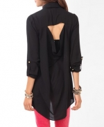 Black cutout shirt from Forever 21 at Forever 21