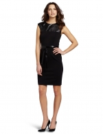 Black dress with leather top at Amazon
