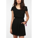 Black dress with pockets at Urban Outfitters at Urban Outfitters