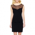 Black dress with sheer top at JC Penney at JC Penney
