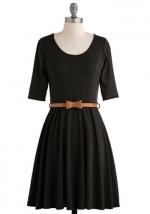 Black elbow sleeve dress at Modcloth