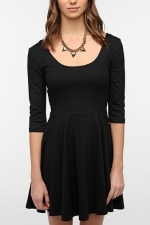 Black elbow sleeve dress at Urban Outfitters at Urban Outfitters