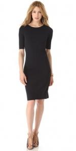 Black elbow sleeve dress by Diane von Furstenberg at Shopbop