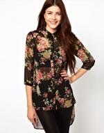Black floral blouse like Lemons at Asos