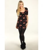 Black floral dress by Obey at Zappos