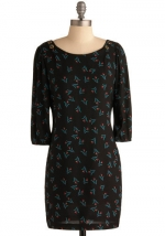 Black floral dress from ModCloth at Modcloth