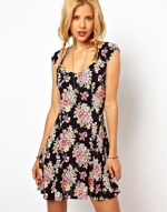 Black floral dress like Annies at Asos