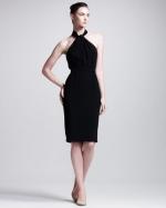 Black halter dress from Neiman Marcus at Neiman Marcus