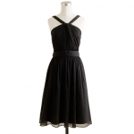 Black halterneck dress from J Crew at J. Crew