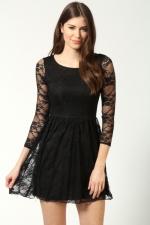 Black lace dress at Boohoo at Boohoo