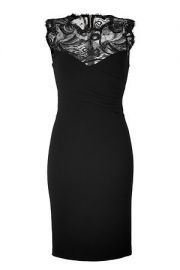 Black lace dress by Emilio Pucci at Stylebop
