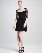 Black lace dress by Erin Fetherston at Neiman Marcus