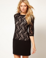 Black lace mini dress from ASOS at Asos