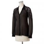 Black lace shirt like Emilys at Kohls