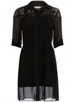 Black lace shirtdress from Dorothy Perkins at Dorothy Perkins