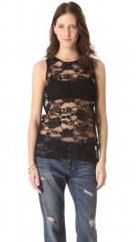 Black lace top by BB Dakota at Shopbop