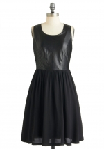 Black leather dress from Modcloth at Modcloth
