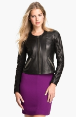 Black leather jacket like Zoes at Nordstrom