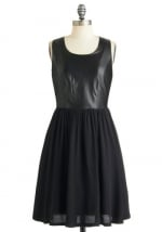 Black leather top dress at Modcloth